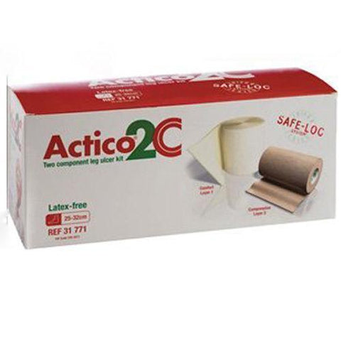 Actico 2C Latex-Free Leg Ulcer Kit Large 25cm x 32cm x 1 Wound Dressings Activa- EasyMeds Healthcare LTD