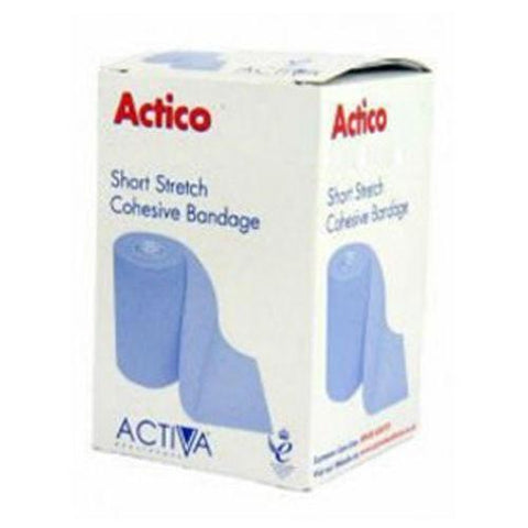Actico Cohesive Short Stretch Compression Bandage 4cm x 6M x 3 Wound Dressings Activa- EasyMeds Healthcare LTD