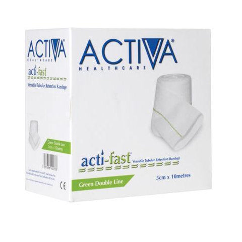 Acti-Fast Actifast Green Elasticated Viscose Stockinette 5cm x 3M x 5 Wound Dressings Lohmann & Rauscher- EasyMeds Healthcare LTD