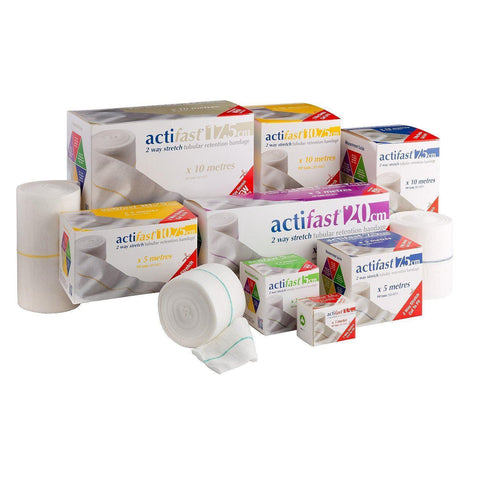 Acti-Fast Actifast Red Elasticated Viscose Stockinette 3.5cm x 1M x 5 Wound Dressings Lohmann & Rauscher- EasyMeds Healthcare LTD
