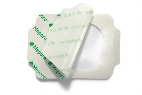 Mepore Film & Pad Absorbent Dressing(s) 4cm x 5cm - Wounds Cuts Abrasions Dressings - Mepore Film & Pad