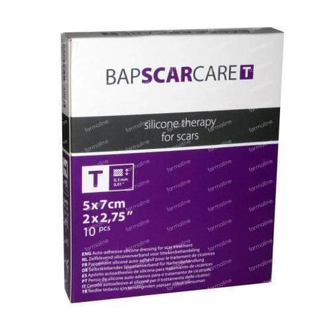 BAPSCARCARE T Dressings Medical Silicone Improved Healing 5cm x 7cm x10 New Espere Healthcare- EasyMeds Healthcare LTD