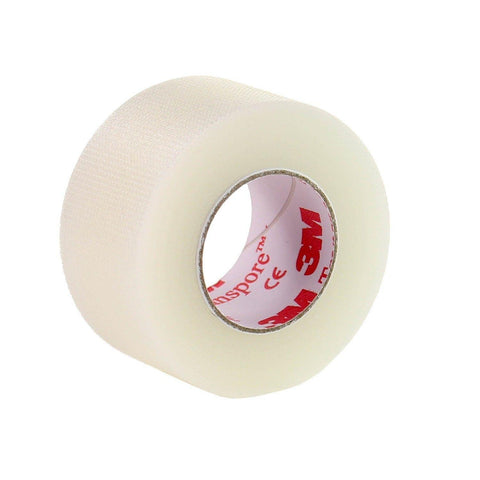 3M Transpore Perforated Plastic Tape 2.5cm X 5M X 12