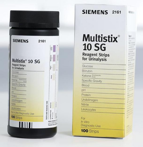 Siemens Multistix 10 SG Professional Urine Test Strips x 100 (22/4/22)