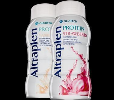 Altraplen Protein Strawberry (4 x 200ml) Nutritional Drinks Nualtra- EasyMeds Healthcare LTD