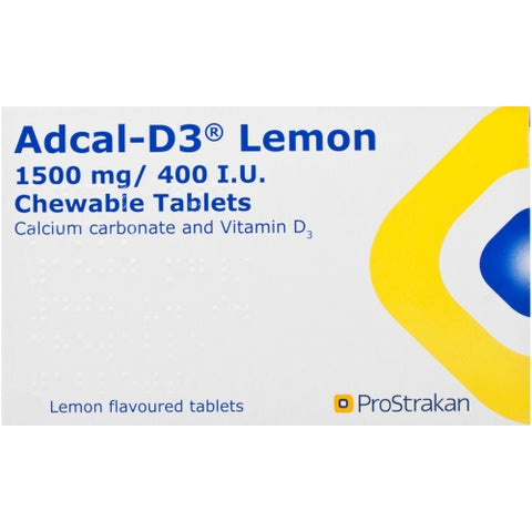 Adcal-D3 Chewable Tablets Lemon Flavoured x 56 Vitamins/Supplements Kyowa Kirin- EasyMeds Healthcare LTD