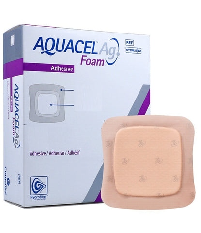Aquacel AG Foam Adhesive Dressings 17.5cm x 17.5cm x 10 | 420628