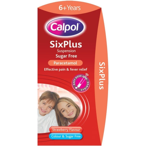 Calpol Six Plus Sugar Free Strawberry Flavour Suspension 100ml Suspension Johnson & Johnson- EasyMeds Healthcare LTD