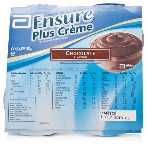 Ensure Plus Creme Cluster Chocolate ( 4 x 125g) Nutritional Drinks - Ensure Plus Creme