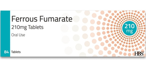 Ferrous Fumarate 210mg Iron Tablets - Packs of 84 Multi Quantity Listing