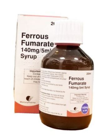 Ferrous fumarate 140mg/5ml Syrup 200ml