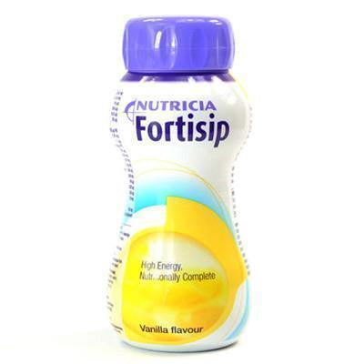 24x Fortisip Vanilla (200ml) Nutritional Drinks Nutricia- EasyMeds Healthcare LTD