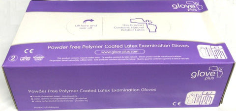 Latex Gloves Powder-Free/Non-Powdered Small x 100 - Glove Plus