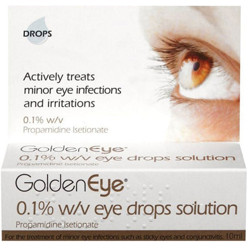 Cambridge Healthcare Supplies Golden 0.1% w/v Eye Drops Solution Treatment for eyelid infections - 10ml