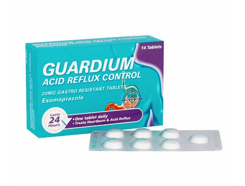 Guardium Control 20mg Gastro-Resistant Tablets x 14 | Acid Reflux