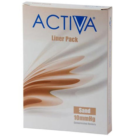 Activa Stocking Liners Open Toe Large Sand 10mmHg x 1 Stocking Liners L&R Medical UK LTD- EasyMeds Healthcare LTD
