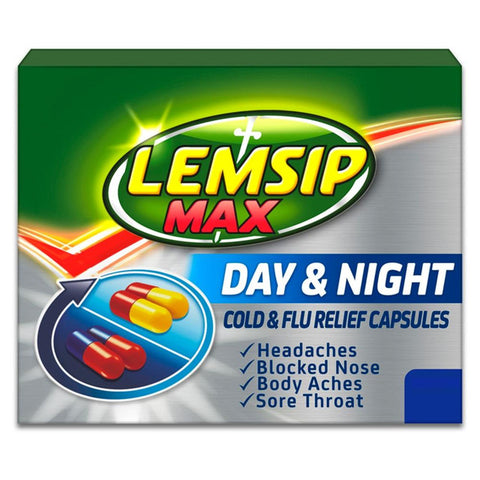 Lemsip Max Day & Night Cold & Flu Relief Capsules x 24