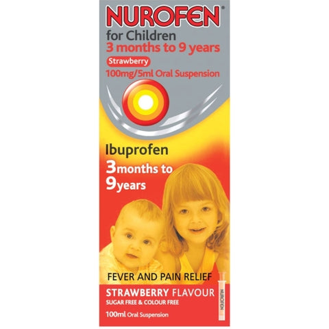 Reckitt Benckiser Nurofen Strawberry Flavour Oral Suspension for Children - 100ml