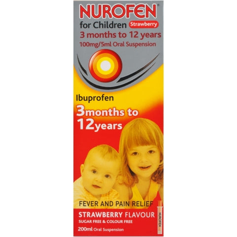 Reckitt Benckiser Nurofen Strawberry Flavour Oral Suspension for Children - 200ml