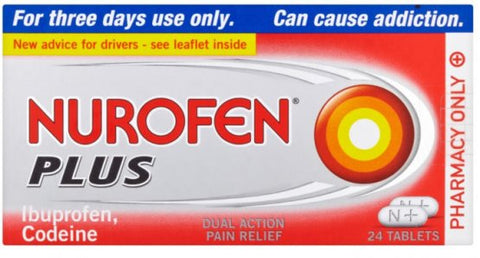 Nurofen Plus Tablets - Pack of 24 - Max 1 Pack Per Order