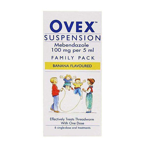 McNeil Products Ovex Liquid Suspension 30ml Family Pack