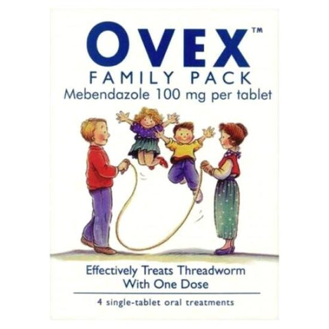 Threadworm Treatment Family Pack 4 x 100mg