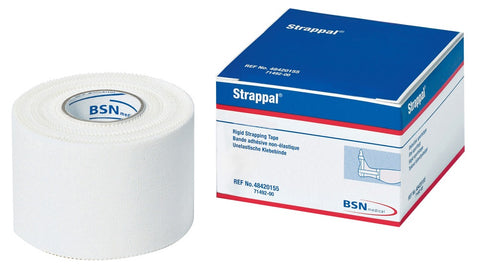 Strappal Zinc Oxide Strong Sports Support Tape, 2.5 cm x 5 m