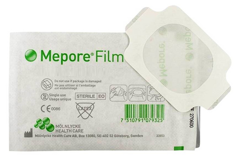 Mepore Film Dressings 10cm x 12cm Adhesive Film Dressings