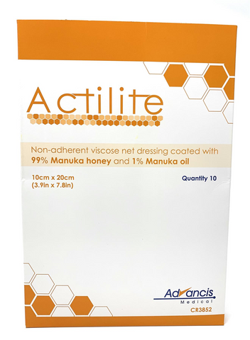 Actilite Manuka Honey Non-Adherent Dressing 10cm x 20cm x10  CR3852 Dressings - Actilite