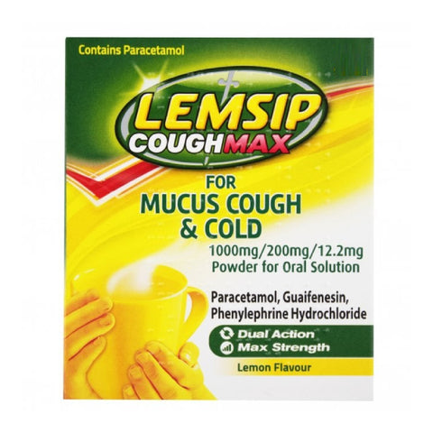 Lemsip Cough Max Mucus Cough & Cold Sachets x 10