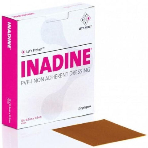 Systagenix Inadine 9.5cm x 9.5cm x10 Non-Adherent Dressings