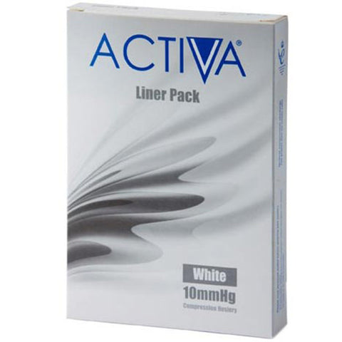 Activa Stocking Liner Medium White 10mmHg x 3 Stocking Liner L&R Medical UK LTD- EasyMeds Healthcare LTD