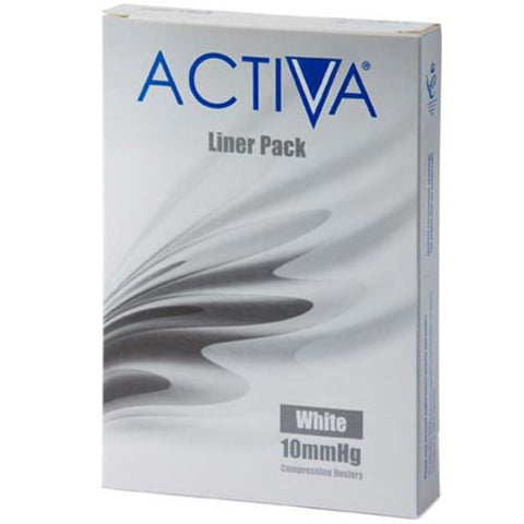 Activa Stocking Liner Small White 10mmHg x 3 Stocking Liner L&R Medical UK LTD- EasyMeds Healthcare LTD