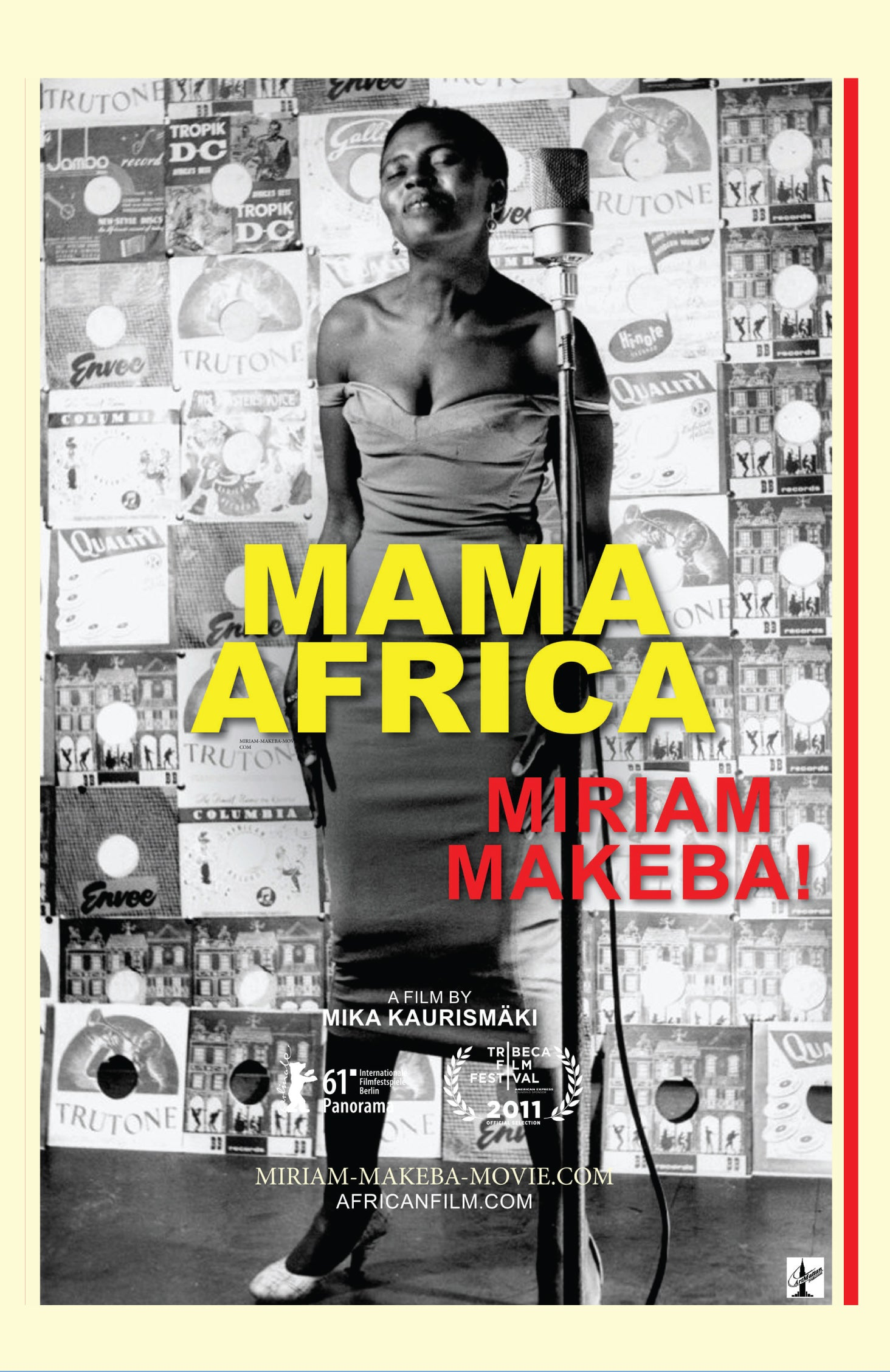 Mama Africa: Miriam Makeba!  DVD with bonus short Aces