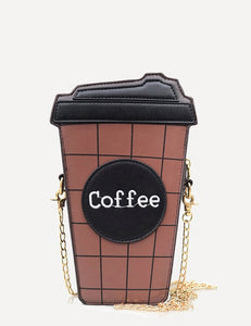 Womens Coffee cup Shoulder strap bag