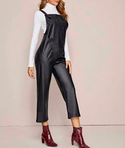 Womens Leather feel Overalls