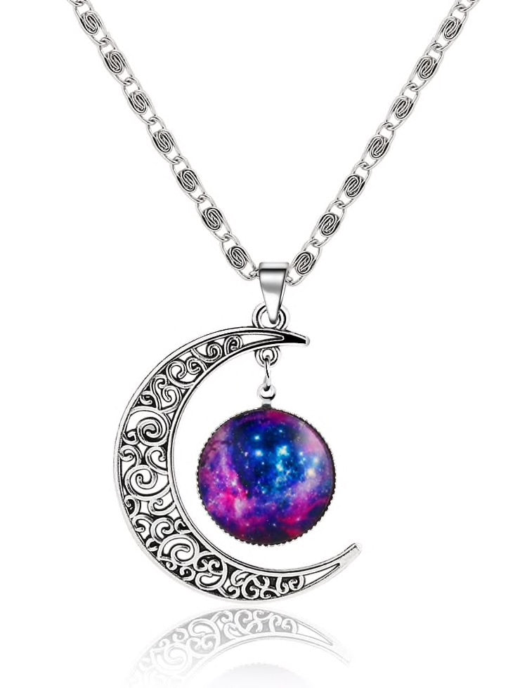 Womens Moon & Sphere chain