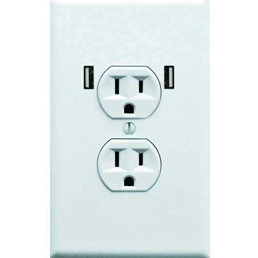Fake Electrical Outlet & USB Wall Plate Sticker 10 Pack