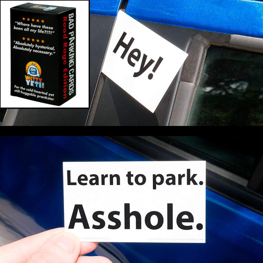 18+ Bad Parking Cards, 5 Designs, 10 of Each Design (50 Pack)
