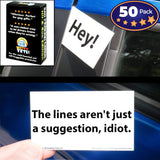 """Family-Friendly-Ish"" Bad Parking Cards, 5 Designs, 10 of Each Design (50 Pack)"