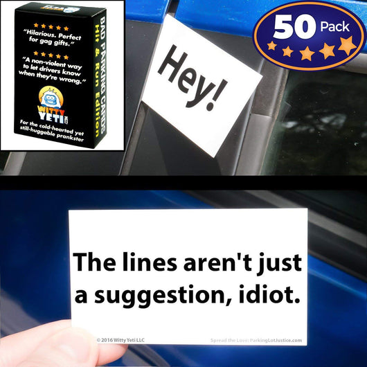 graphic regarding Printable Bad Parking Notes titled Household-Helpful-Ish\