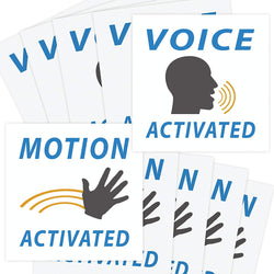 Voice & Motion Activated Prank Stickers, 50 Pack