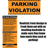 Full-Size Fake Parking Ticket 20 Pack
