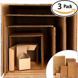 Give the Gift of Frustration: Boxes in a Box Prank. Includes 3 Sets of 6 Nesting Cartons (2-12 Inch). Funny Practical or Novelty Joke. Great Christmas Gag, Birthday Present or Stocking Stuffer...