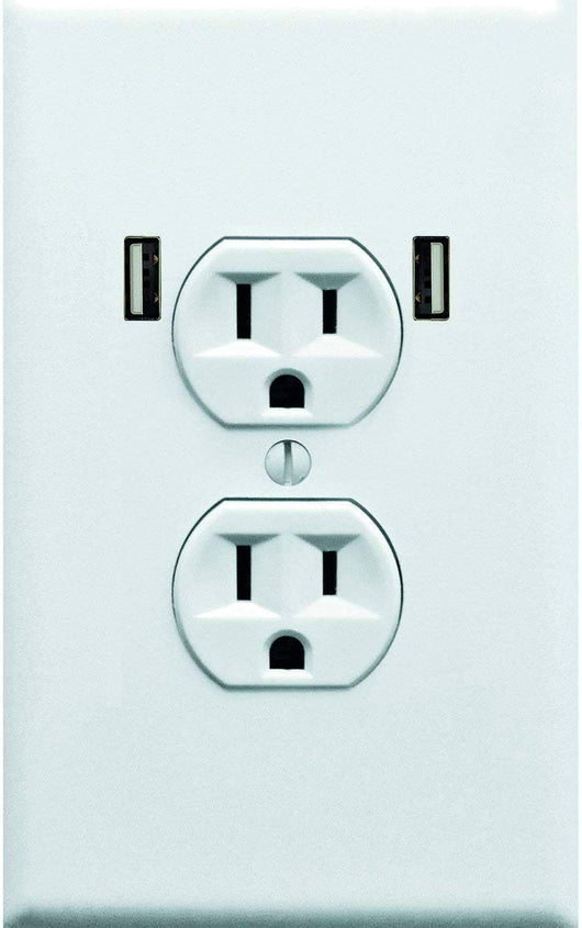 Fake Electrical Outlet & USB Wall Plate Sticker 10 Pack. Prank & Confuse...