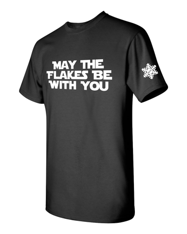 May The Flakes Be With You Unisex Adult Short Sleeve Shirt