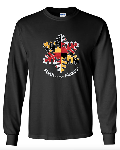 Adult Unisex Long Sleeve Tee with Flag Flake