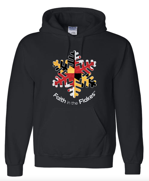 Adult Hoodie with Flag Flake