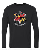 Mens Performance Long Sleeve Tee with Flag Flake