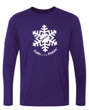 Mens Performance Long Sleeve Tee with White Flake